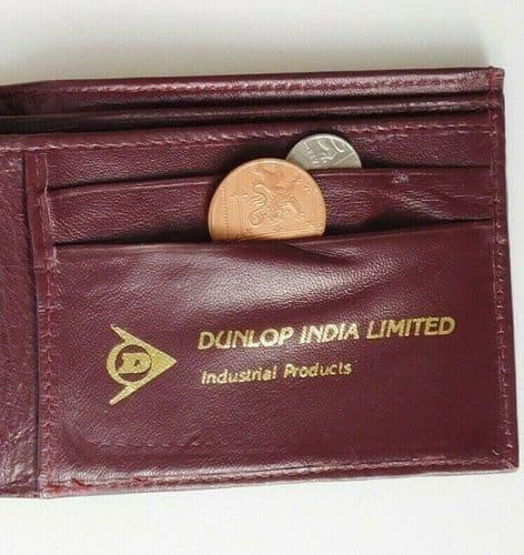 Dunlop India vintage leather wallet good quality burgundy colour men or women